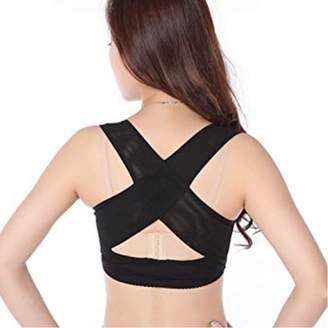 Generic Adjustable Humpback Back Shoulder Posture Corrector Corset Bra X Strap Vest For Women