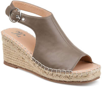 Journee Collection Womens Crew Wedge Sandals