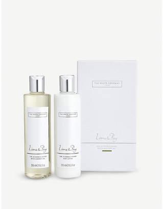 The White Company Lime & bay bath & body set