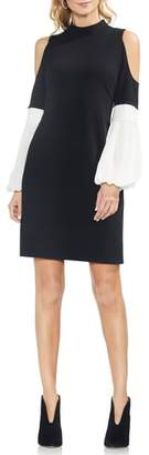 Vince Camuto Chiffon Sleeve A-Line Dress