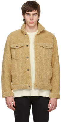 Naked & Famous Denim Denim Beige Fleece Jacket