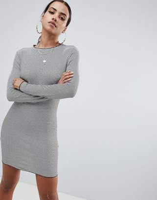 Missguided Frill Hem Striped Mini Dress