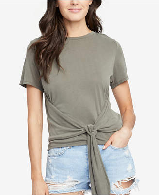 Rachel Roy Cropped Tie-Front T-Shirt, Created for Macy's