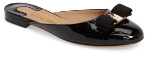 Women's Salvatore Ferragamo Rounded Toe Bow Mule $495 thestylecure.com
