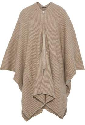 Derek Lam Asymmetric Ribbed Cashmere And Silk-Blend Cardigan