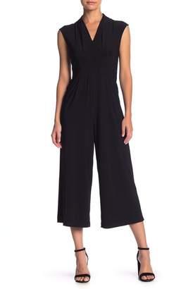 Sharagano Matte Jersey Jumpsuit (Petite)