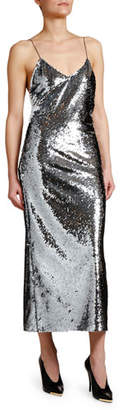 Stella McCartney Messy Sequined Cami Dress