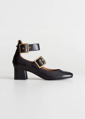 And other stories Duo Buckle Strap Ballet Pumps