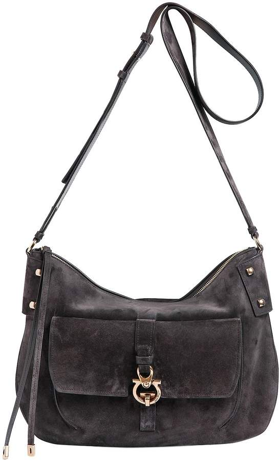 Fiona Hunting Suede Shoulder Bag