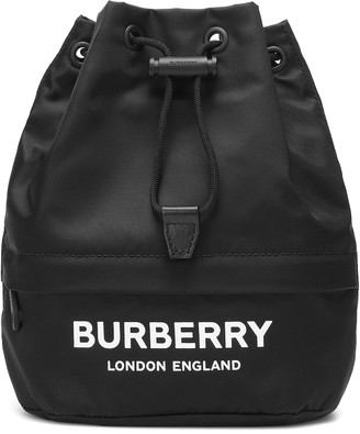 Burberry Phoebe nylon drawstring pouch