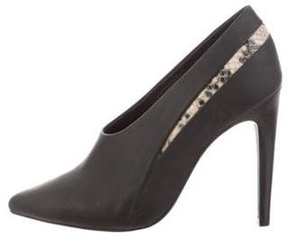Tibi Leather Pointed-Toe Pumps