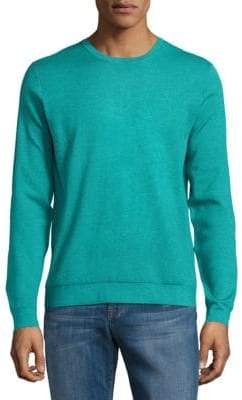 Saks Fifth Avenue Silk, Cotton & Cashmere Crewneck Sweater