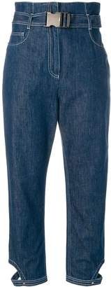 Fendi high-waist cropped jeans