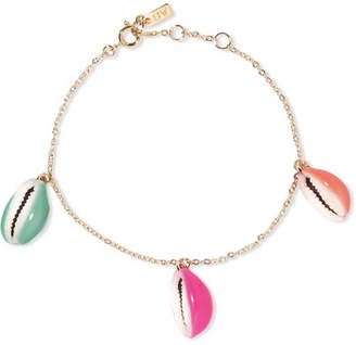 Aurelie Bidermann Gold-plated, Shell And Enamel Bracelet