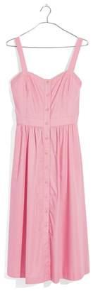 Madewell Pink Fleur Bow Back Dress