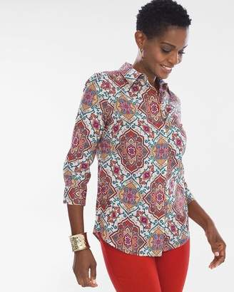 Chico's Chicos Medallion Button-Back Shirt