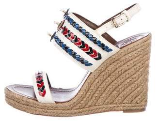 Tory Burch Embellished Wedge Sandals