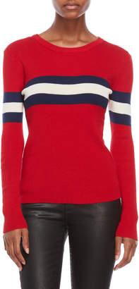 Derek Heart Chest Stripe Sweater