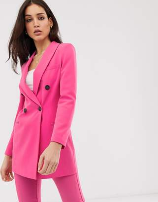 a91cf588b96f Stradivarius tailored blazer co ord in hot pink