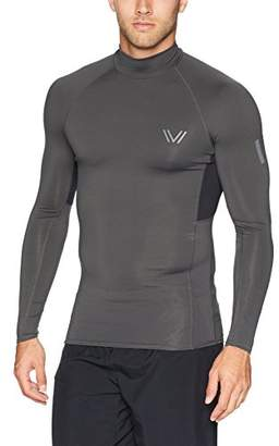Peak Velocity Men's Sync Long Sleeve Compression-Fit Mock Run Shirt