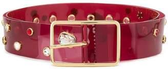 B-Low the Belt stone embellished transparent belt