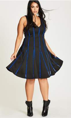 City Chic Citychic Take Me Out Fit & Flare Dress