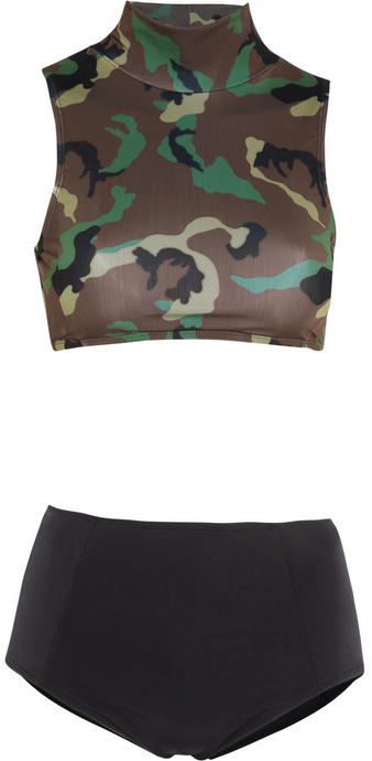 Beth Richards Maud + Faye camouflage-print high-waisted bikini