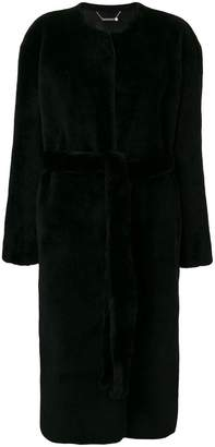 Givenchy belted shearling coat