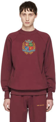 Leon Aime Dore Burgundy ALD Crest Sweatshirt