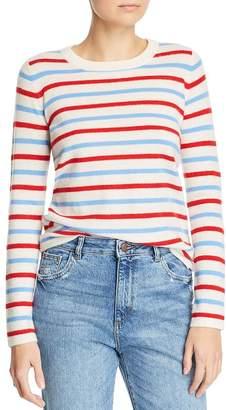 Madeleine Thompson Manteca Striped Cashmere Crewneck Sweater