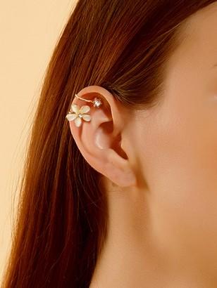 Shein Rhinestone Detail Flower Ear Clip 1pc
