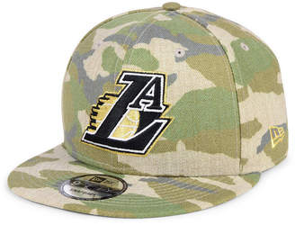 New Era Los Angeles Lakers Combo Camo 9FIFTY Snapback Cap