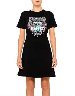 Kenzo Classic Tiger Light Molleton Mini Flip Dress