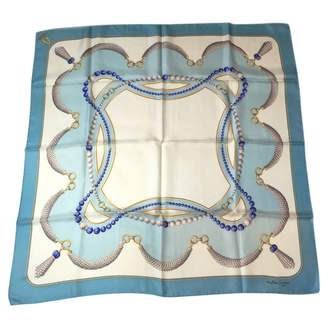 Cartier Vintage Blue Silk Scarves