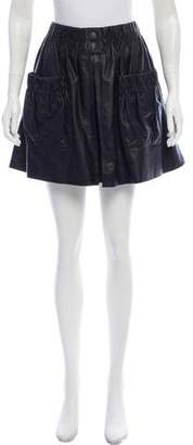 Chanel Leather Mini Skirt