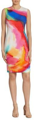 Ralph Lauren Collection Claudette Splash-Print Dress