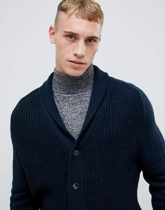 New Look cardigan with shawl neck in teal