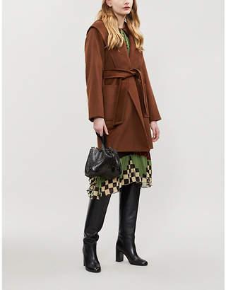 Max Mara Rialto wrap-over camel hair coat