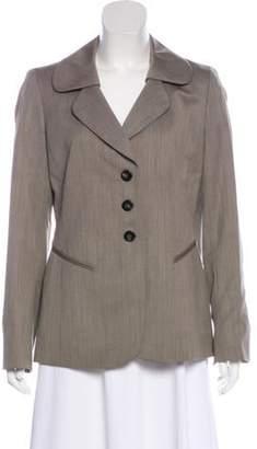 Ellen Tracy Wool Structured Blazer Khaki Wool Structured Blazer