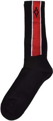 Marcelo Burlon County of Milan Logo Color Block Socks