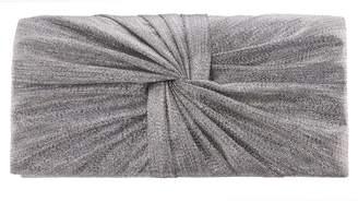 Nina Metallic Knot Clutch