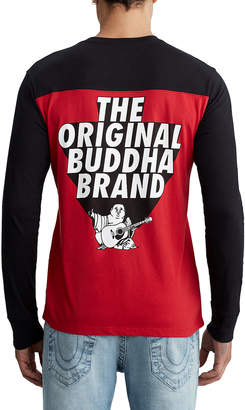 True Religion MENS RETRO BUDDHA RAGLAN TEE