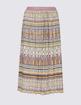 Marks and Spencer Printed A-Line Midi Skirt