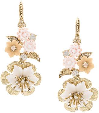 Marchesa drop floral earrings