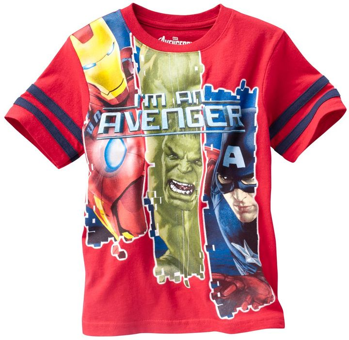 "Iron Man Marvel the avengers ""i'm an avenger"" tee - boys 4-7"