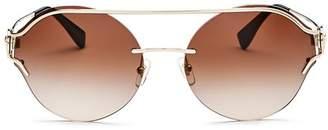 Versace Women's Brow Bar Round Sunglasses, 61mm