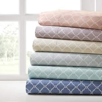 Comfort Classics Fretwork 100 Percent Cotton Sheet Set