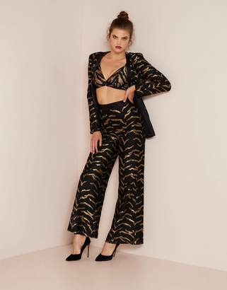 Agent Provocateur Genevieve Tux Jacket Black and Gold