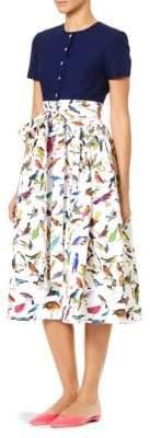 Carolina Herrera Bird-Print Shirt Dress