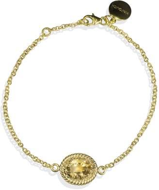 Vintouch Italy - Luccichio Gold Vermeil Citrine Bracelet